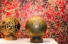 Vue de l'exposition rétrospective consacrée à l'artiste Aristide Gagnon, à la Maison Hamel-Bruneau de Québec, du 6 avril au 29 mai 2016. Mandat: commissaire d'exposition. Crédit photo: Isabelle Houde Photographe