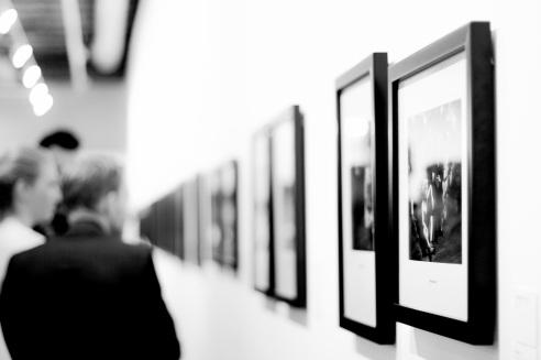 Galerie d'art noir et blanc