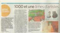 """Québec s'expose """"1000 et une âmes d'artistes"""", Cahier Weekend Art et Spectacles, Journal de Québec, Samedi, le 16 août 2014"""