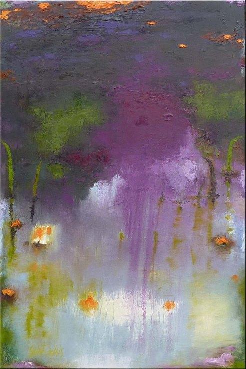 Jardin IV Huile sur toile 24'x36'  Série Les Jardins par Ann Saint-Gelais Copyright © 2014 Ann Saint-Gelais