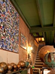 Vue de l'atelier d'Aristide Gagnon.  Crédit photo:  Isabelle Houde Photographe