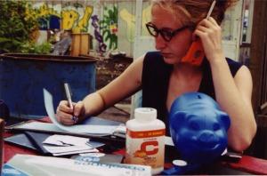 Hélène Matte - Jouer pour de vrai, photo de J.Lessard, prise à l'Ilot Fleurie en 2001