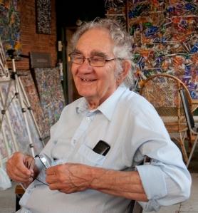 Aristide Gagnon dans son atelier.  Crédit photo:  Isabelle Houde Photographe