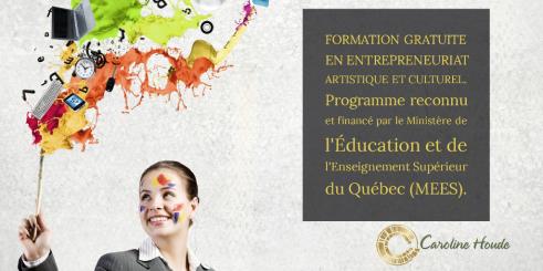Formation en gestion de carrière artistique et entrepreneuriat culturel_caroline houde